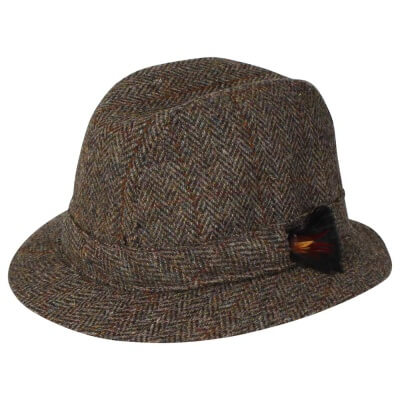 Trilby Brown Herringbone