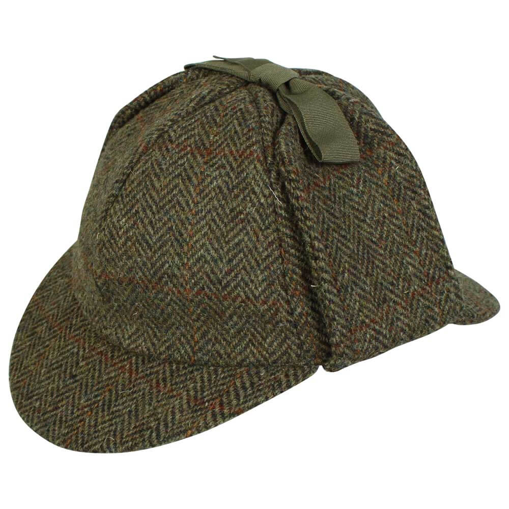 72785fc6e42 Harris Tweed Deerstalker Sherlock Holmes Hat – Rheged Deerstalker ...
